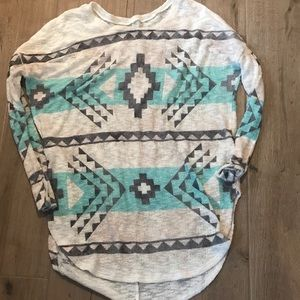 Tops - Teal and gray tunic